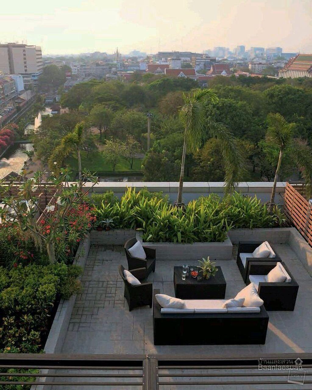 34 Nice Rooftop Terrace Design Ideas #rooftopterrace 34 Nice Rooftop Terrace Des…,  #des #D…