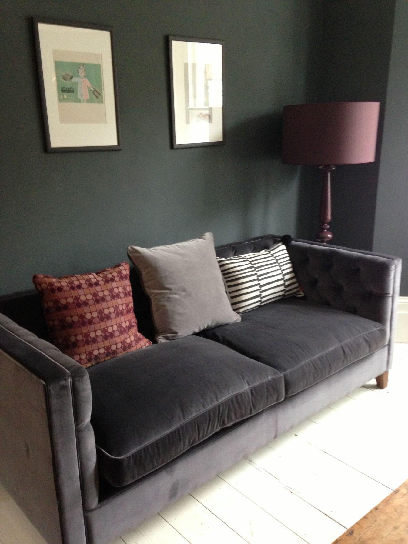 Awesome Dark Gray Velvet Sofa Inspirational Dark Gray Velvet