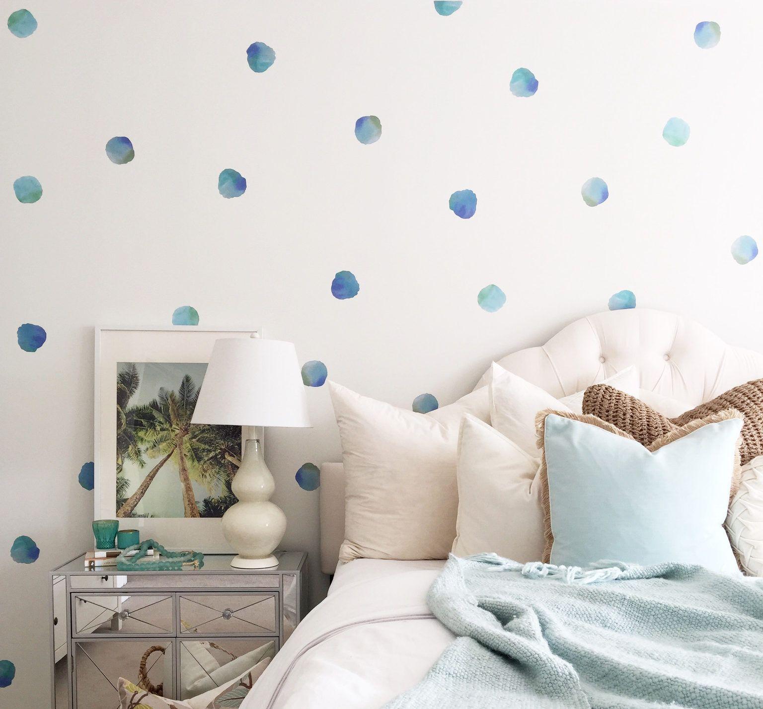Watercolor Polka Dot Wall Decals