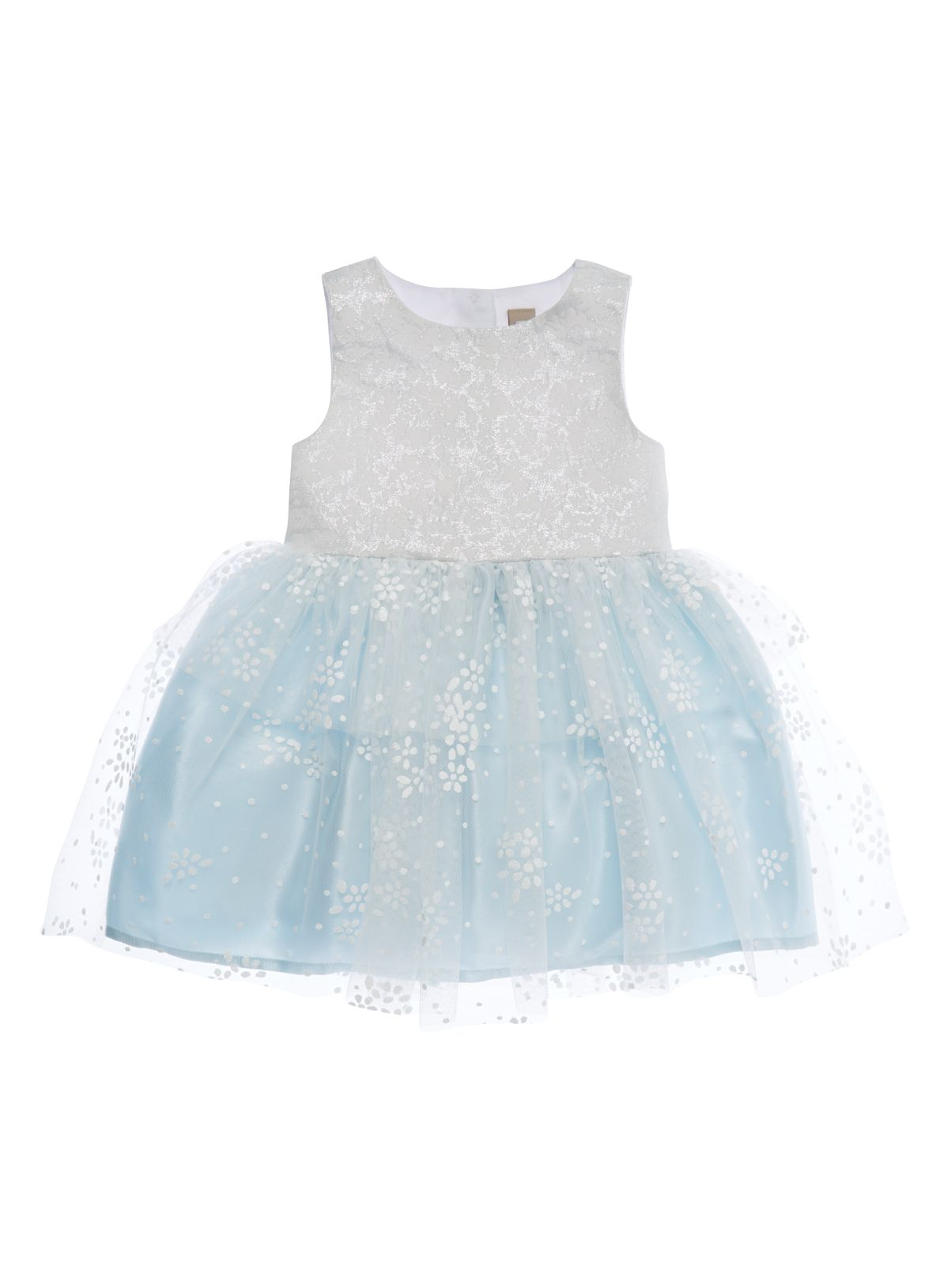 Girls Girls Blue and Silver Sparkle Netted Dress (9 months-5 years) | Tu clothing