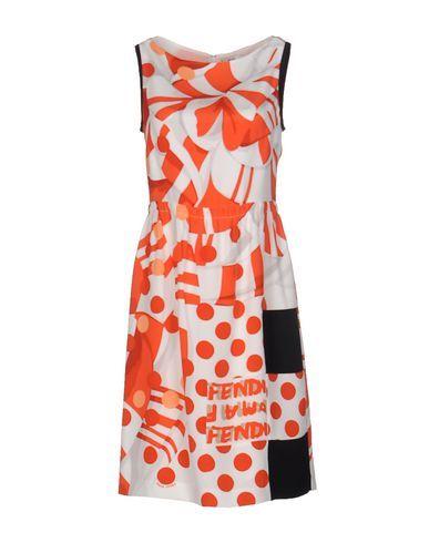FENDI Knee-Length Dress. #fendi #cloth #dress #top #skirt #pant #coat #jacket #jecket #beachwear #