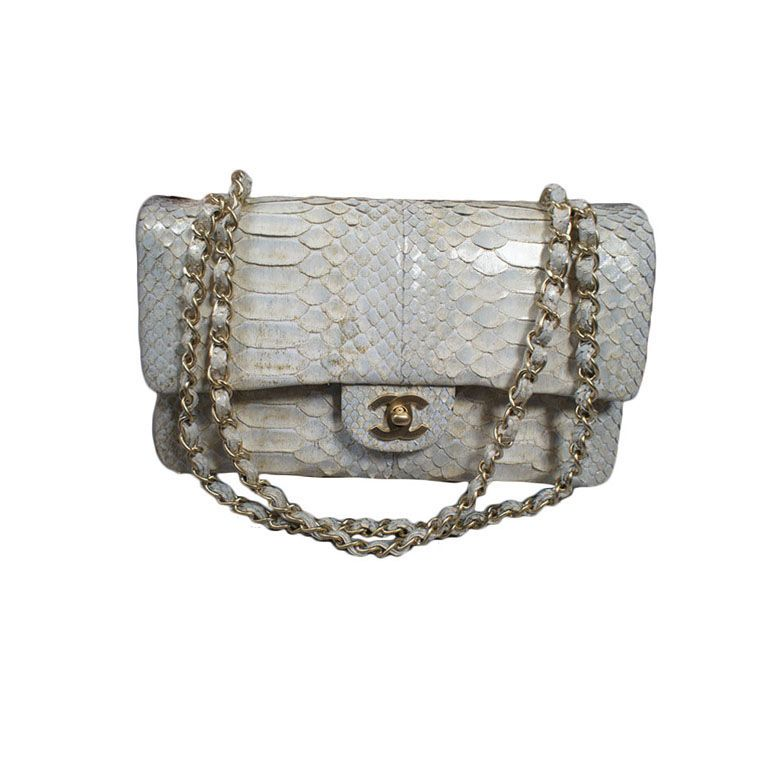 f05548826f8c CHANEL 2.55 Silver Python Double Flap Bag GHW in 2019 | Chanel ...