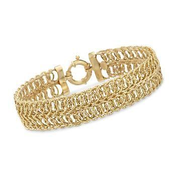 d163ae1df Italian Interlocking-Link Bracelet in 14kt Yellow Gold | Jewelry in ...
