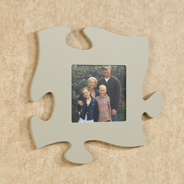 Gray Photo Frame Puzzle Piece Wall Art Picture This Frame