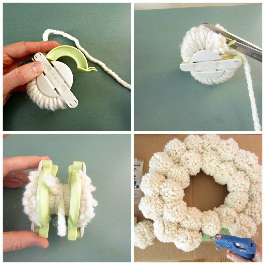 Antropologie Inspired Pom Pom Wreath