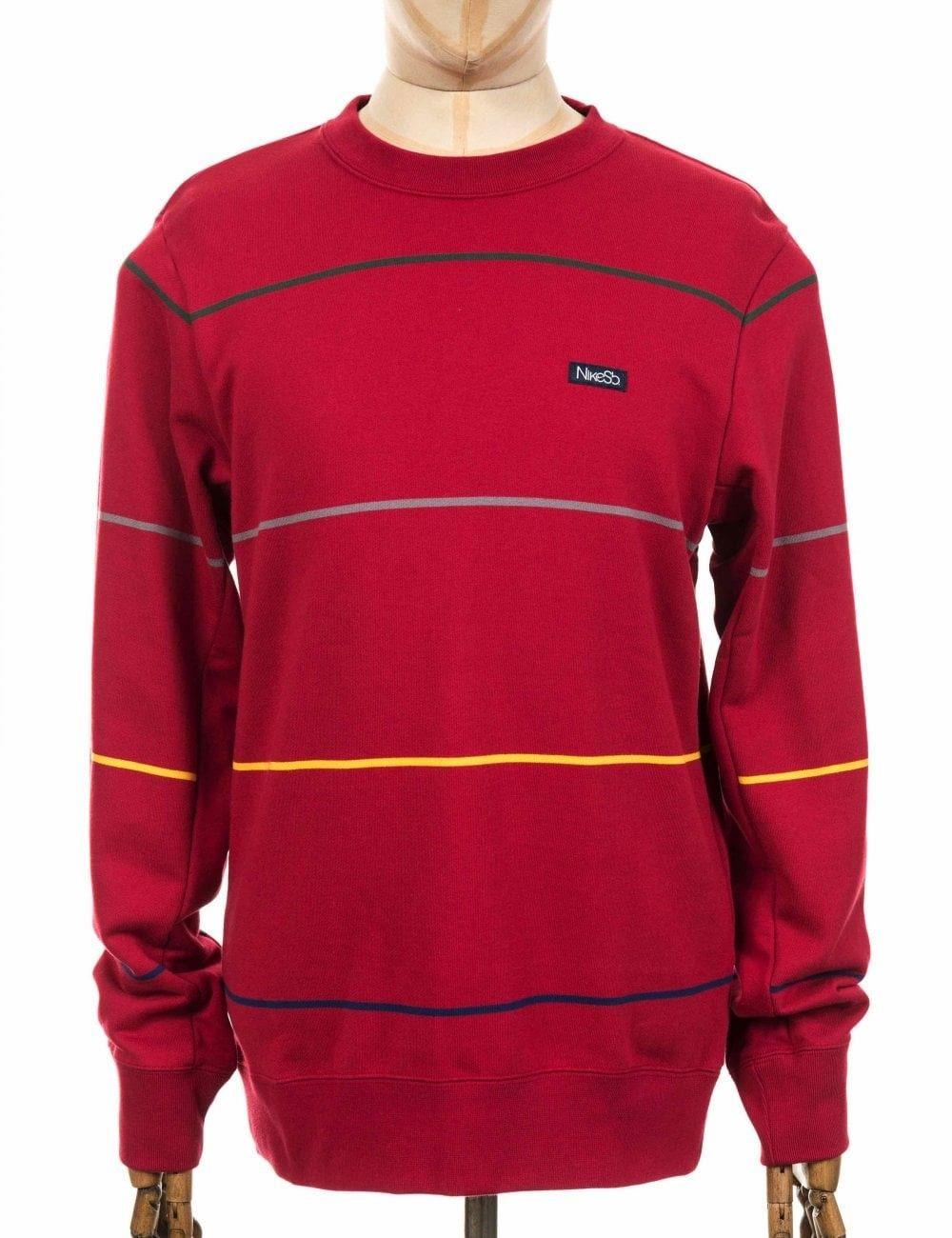 Nike Sb Everett Stripe Sweatshirt Red Crush Colour Red Crush Nike Cloth Striped Sweatshirts Sweatshirts Nike Sb [ 1300 x 1000 Pixel ]