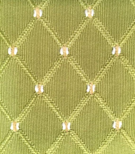 Green Diamond And Dot Upholstery Fabric By The By Shopmyfabrics