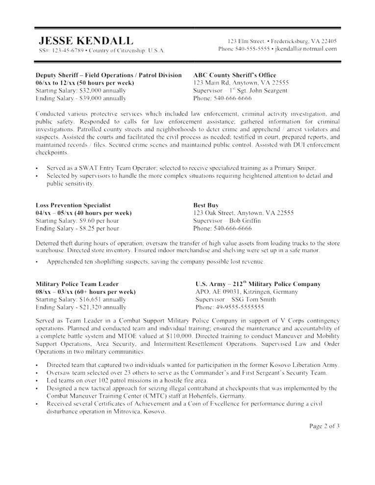 Great Federal Resume Template 2018 Ideas federal resume