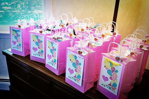 illustrated goodie bags for bridal shower favors
