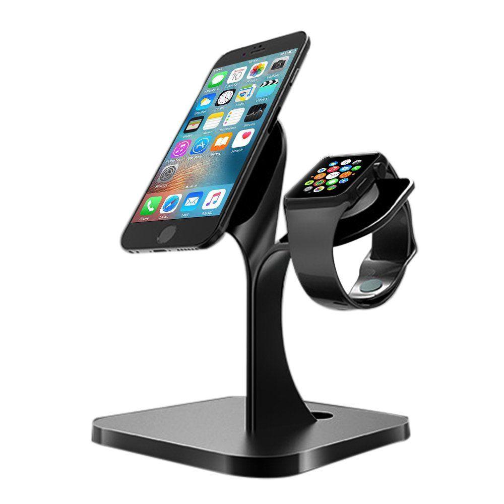 c6b6b174b442 Pawaca Support Téléphone, Support de Apple Watch, 2 In 1 Dock Station de  Charge