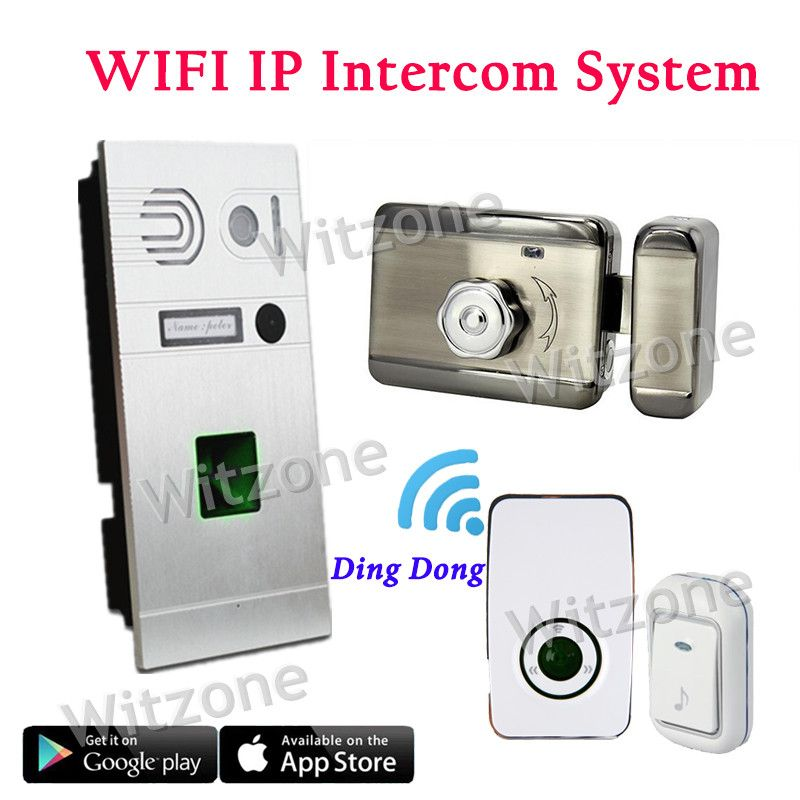 Whole Set Ip Wifi Video Doorphone System Door Entry System