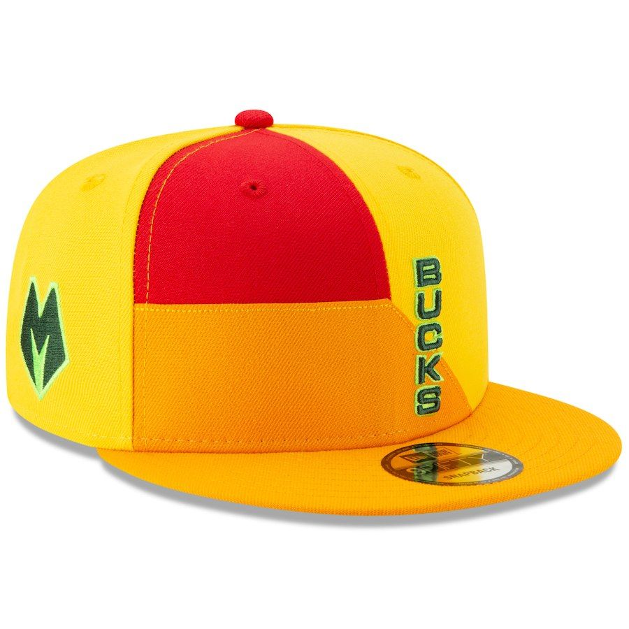 ireland mens milwaukee bucks new era yellow 2018 city edition on court 9fifty  snapback adjustable hat 5c8b97c2778e