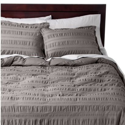 Threshold By Target Seerer Duvet Cover Set Washable Color Grey Also In