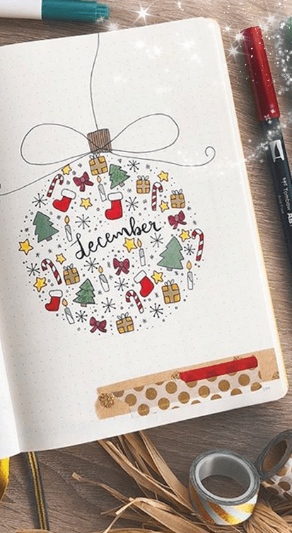 Christmas Bullet Journal Ideas #bulletjournal
