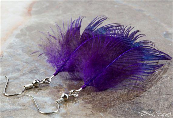 beautiful feather earrings  $9.00