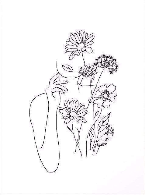 Photo of Kaufen Sie Reproduktionen minimalistischer Kunstlinien mit Blumen III von nadja1… – Welcome to Blog