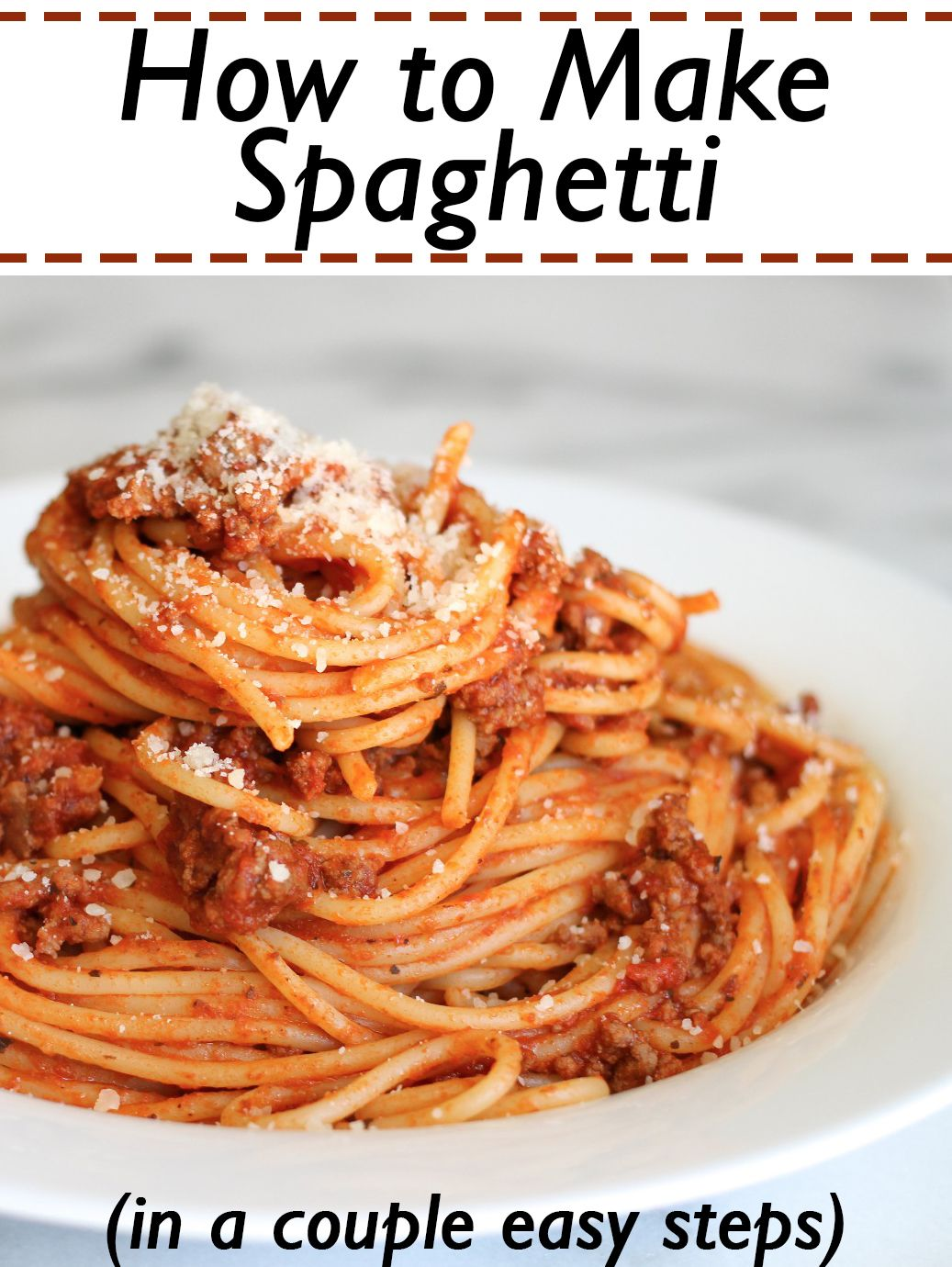 How To Make Spaghetti In A Couple Easy Steps Spaghetti Recipes Easy Best Spaghetti Recipe Easy Spagetti Recipes