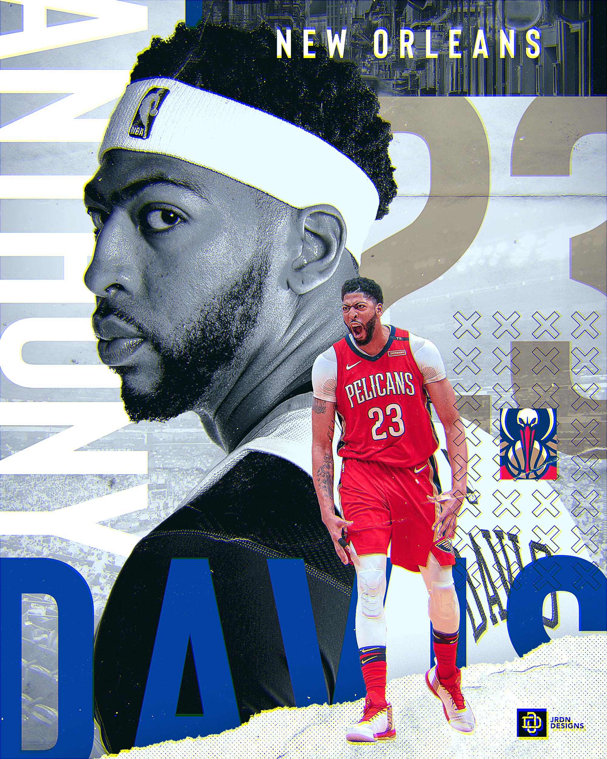 Anthony Davis New Orleans Pelicans Nba On Behance Anthony Davis New Orleans Pelicans Anthony Davis Pelicans