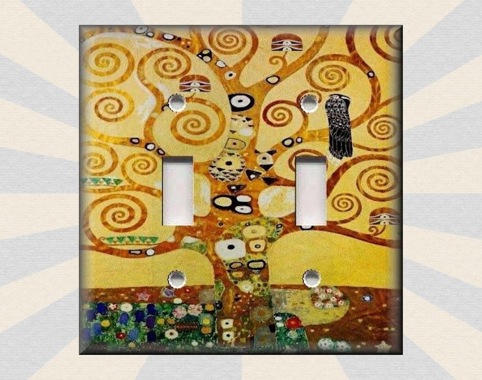 Metal Light Switch Plate Cover - Klimt Art Tree Of Life Klimt Art ...