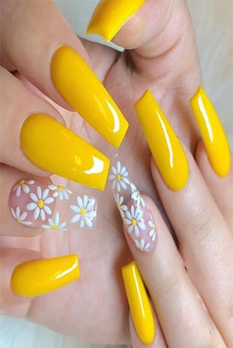 72 Most Trending Nail Arts Designs And Ideas 2020 With Images Acrylic Nails Yellow Yellow Nails Sunflower Nails