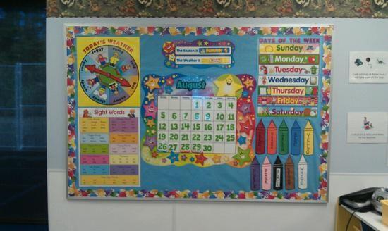 Preschool And Kindergarten Back To School Calendar Board