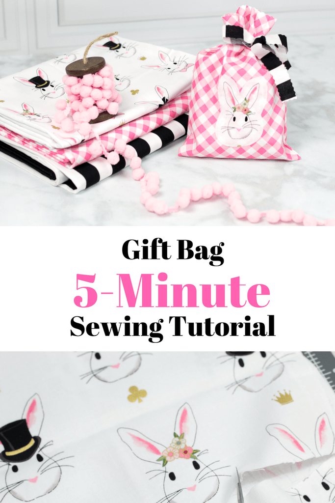 5 Minute Gift Bag Tutorial Craft Sewing And Embroidery