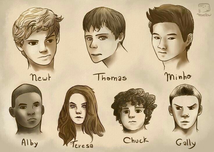 Dibujo de los personajes del corredor del laberinto. Crees que estan bn dibujados?