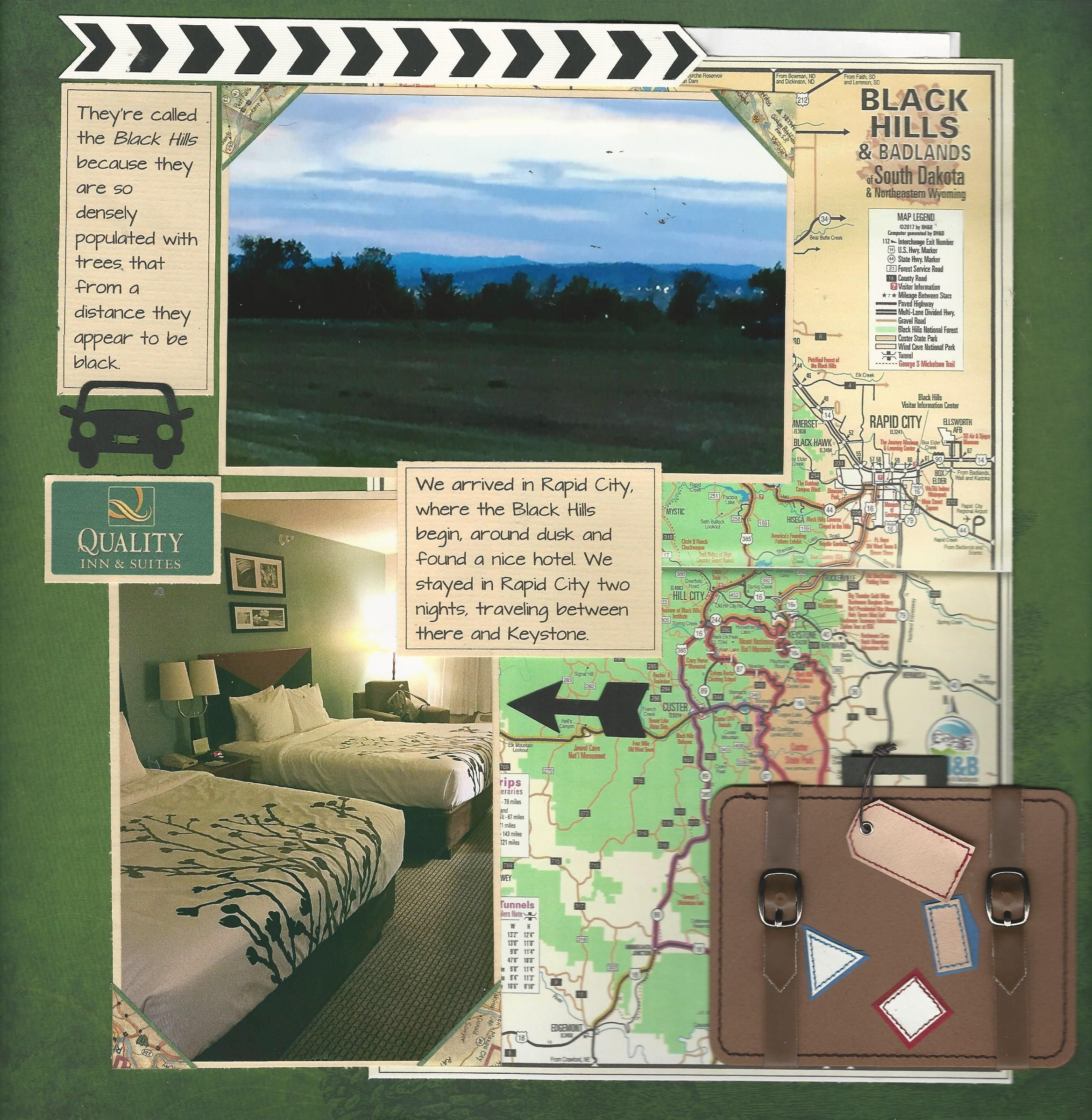 Vacation Hotel Room View Road Trip Map Scrapbook Layout