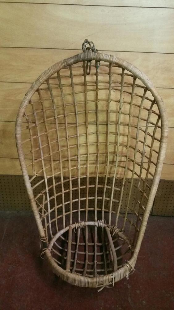 Vintage Bamboo Mid-century Modern Hanging Wicker Egg Chair Swing | Home u0026 Garden & Vintage Bamboo Mid-century Modern Hanging Wicker Egg Chair Swing ...
