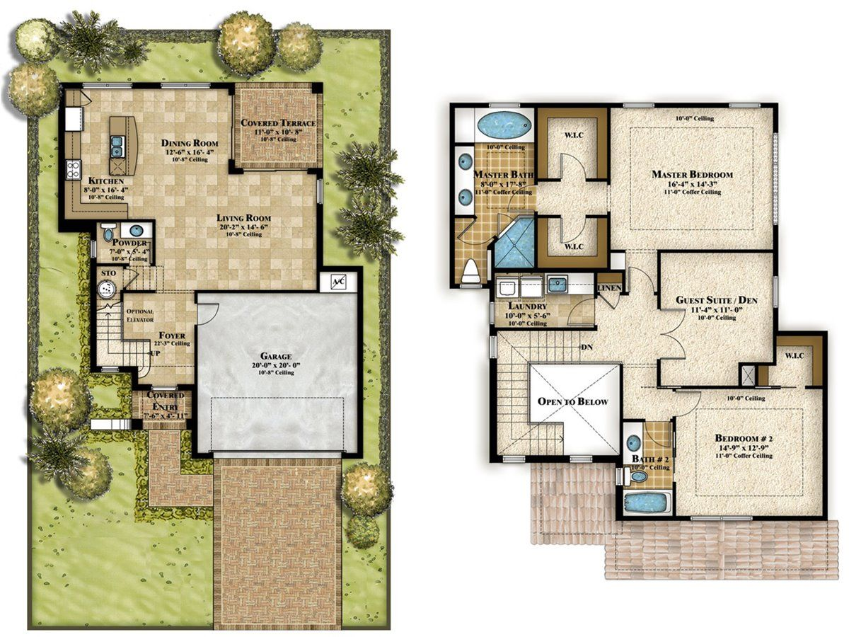 How To Design 2 Storey Home Plan | House plans | Pinterest | Modern ...