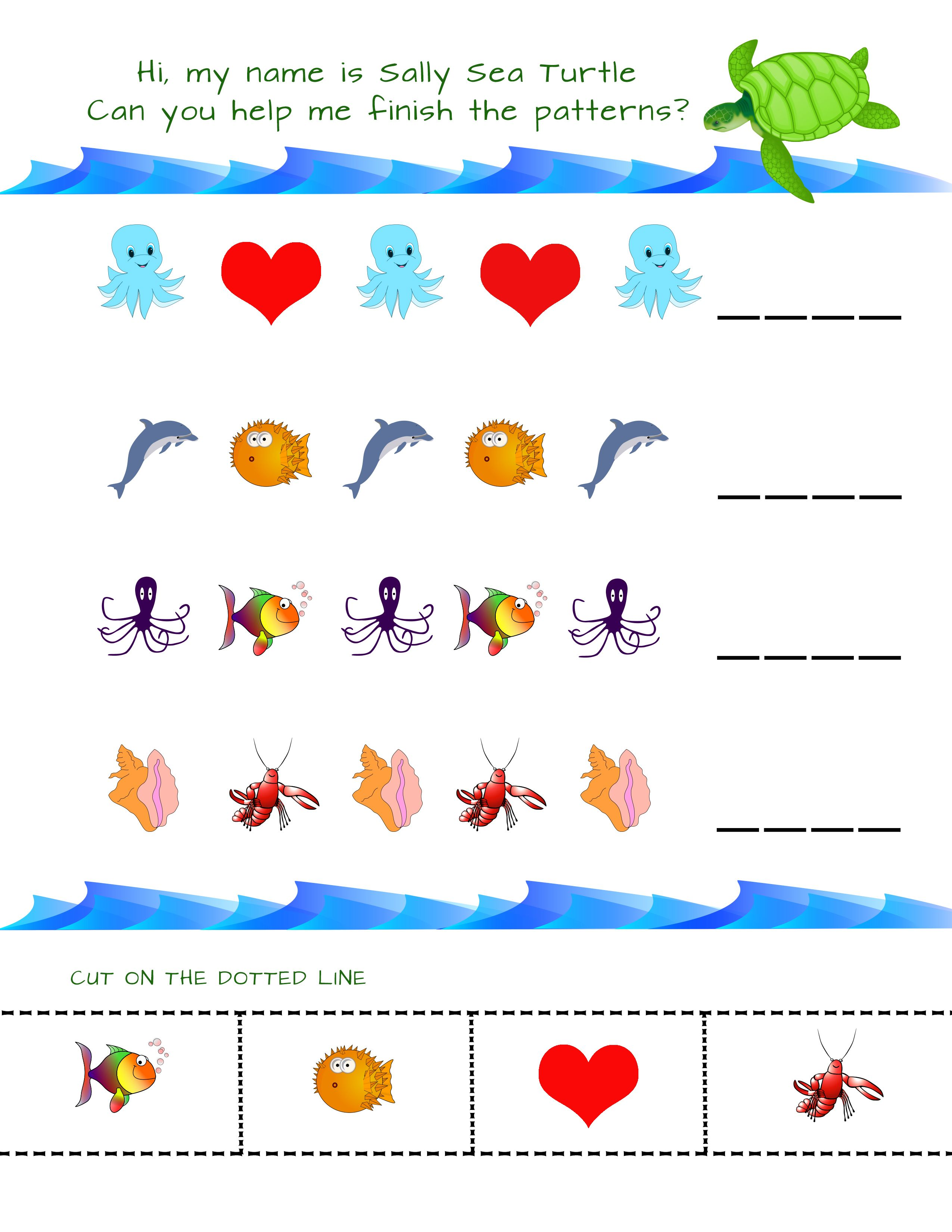 Let S Build Patterns With Ocean Creatures This Cute Ocean Theme Pattern Worksheet Is Fun And Engagin Kindergarten Worksheets Kindergarten Preschool Worksheets [ 3300 x 2550 Pixel ]