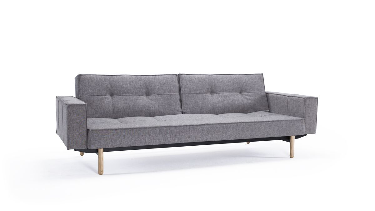 Splitback Sofa Rozkladana Z Podlokietnikami Sofa Sofa Bed Wood Sofa Bed
