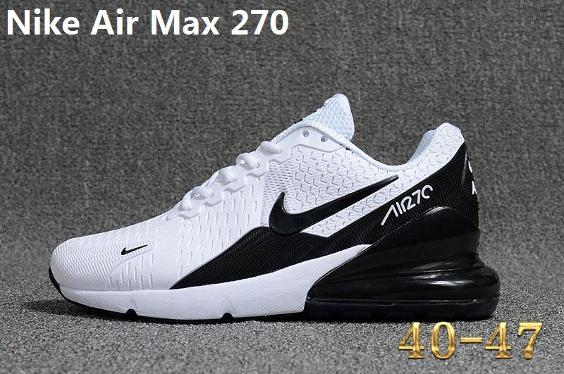 save off b7e89 fa2b3 Spring Summer 2018 Fashion Nike Air Max 270 KPU Latest Styles Running Shoes  Sneakers 2018 White Black AH8050-400