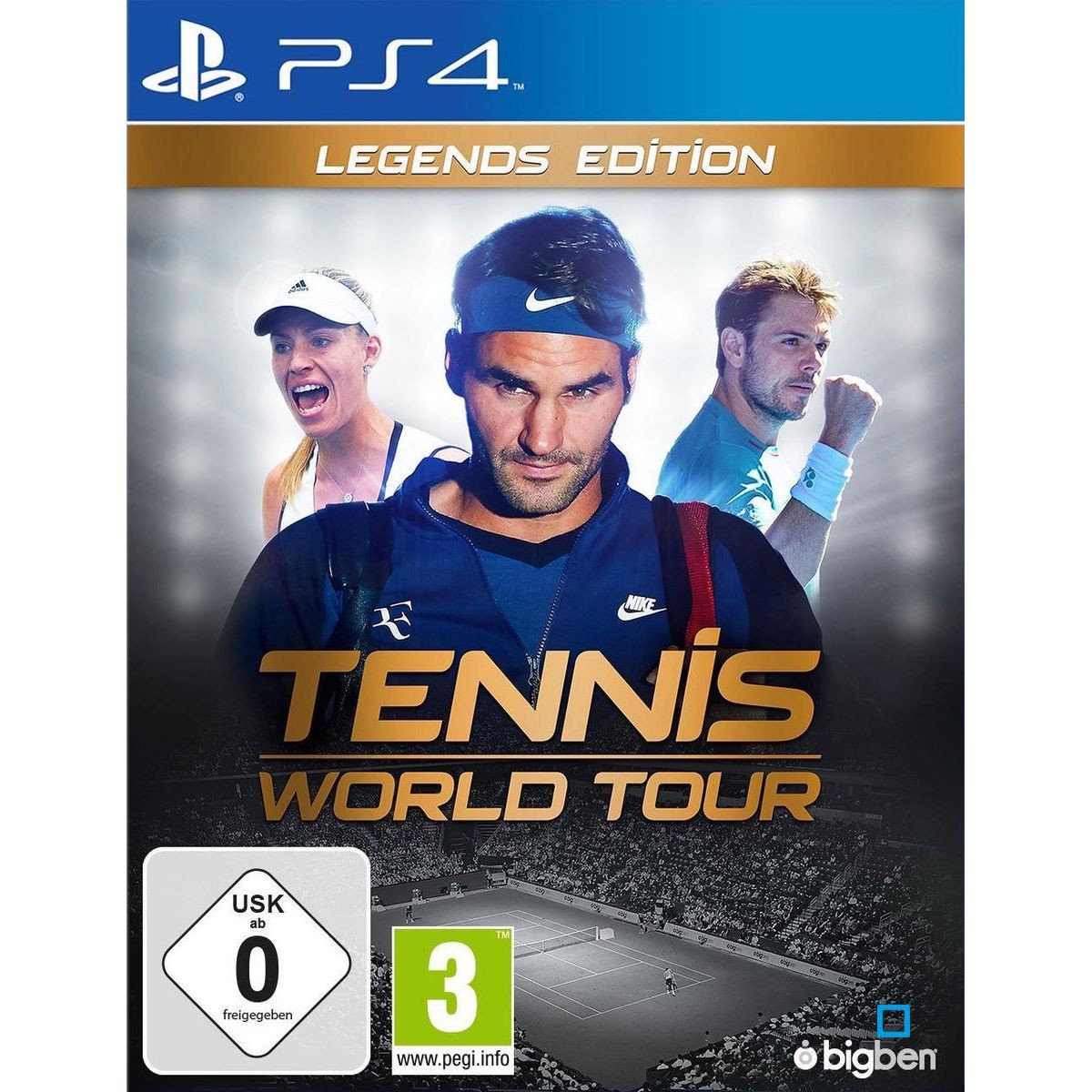 Tennis World Tour Legends Edition Ps4 Angelique Kerber Roger Federer Et Tennis