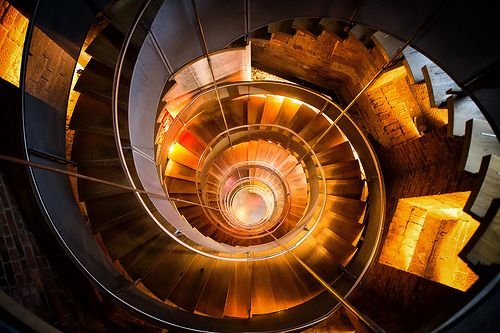 """Spiral staircase at """"The Lighthouse"""" / Glasgow"""