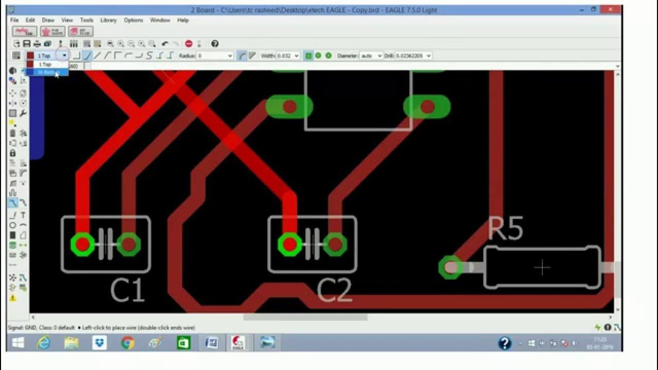 Eagle Tutorialhow To Design A Single Layer Pcb Electronic New Led Control Circuit Using Irs2530d Diagram