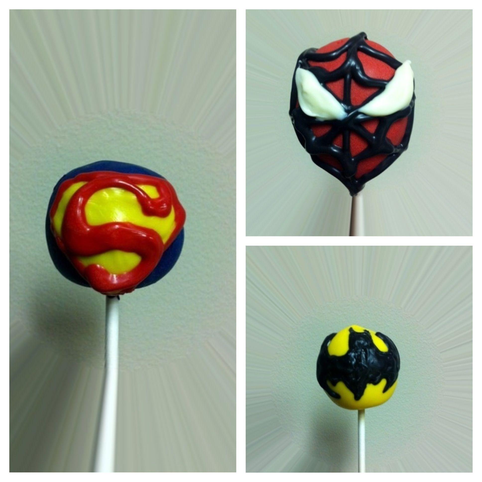Superhero Cake Pops Batman Superman Spiderman
