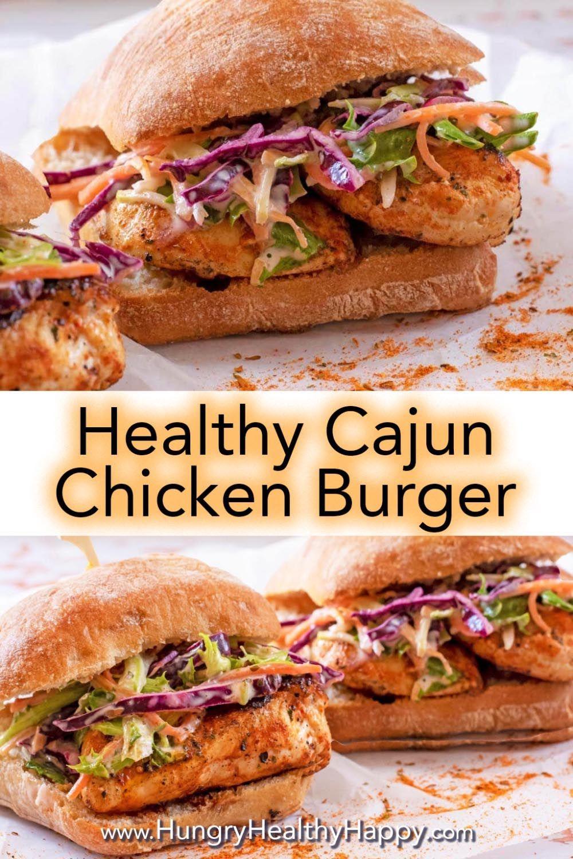 Cajun Chicken Burger Smoky Zesty And With A Little Bit Of A Kick Recipe Cajun Chicken Burger Healthy Burger Recipes Chicken Burgers