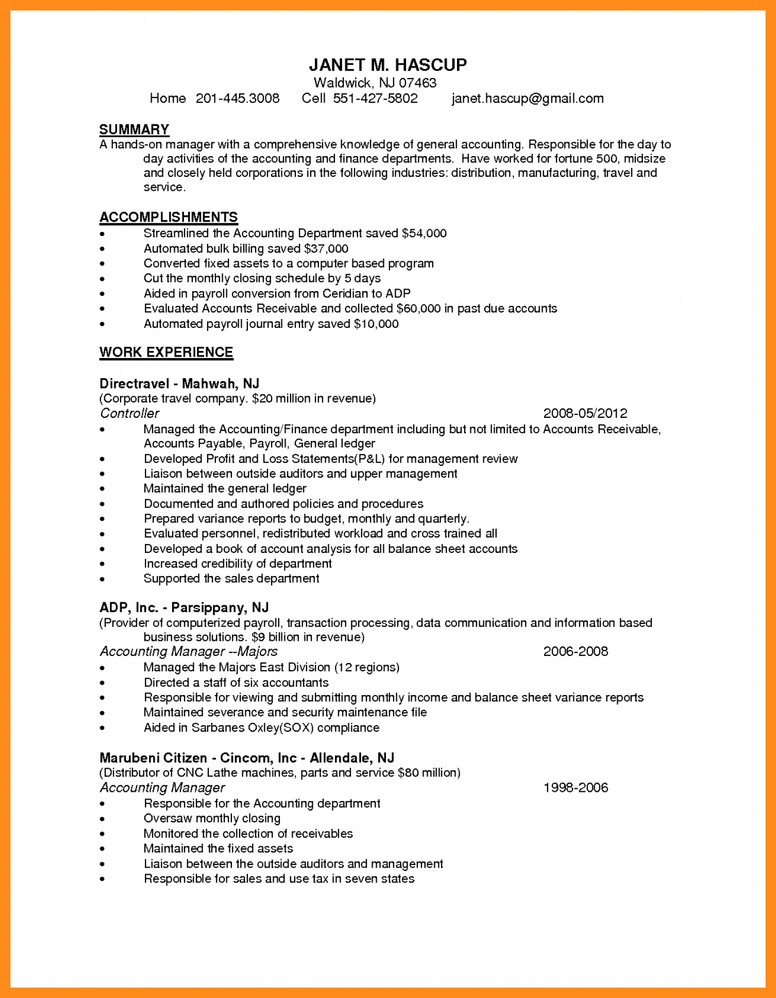 26+ accounting resume examples 2021 in 2020 Resume