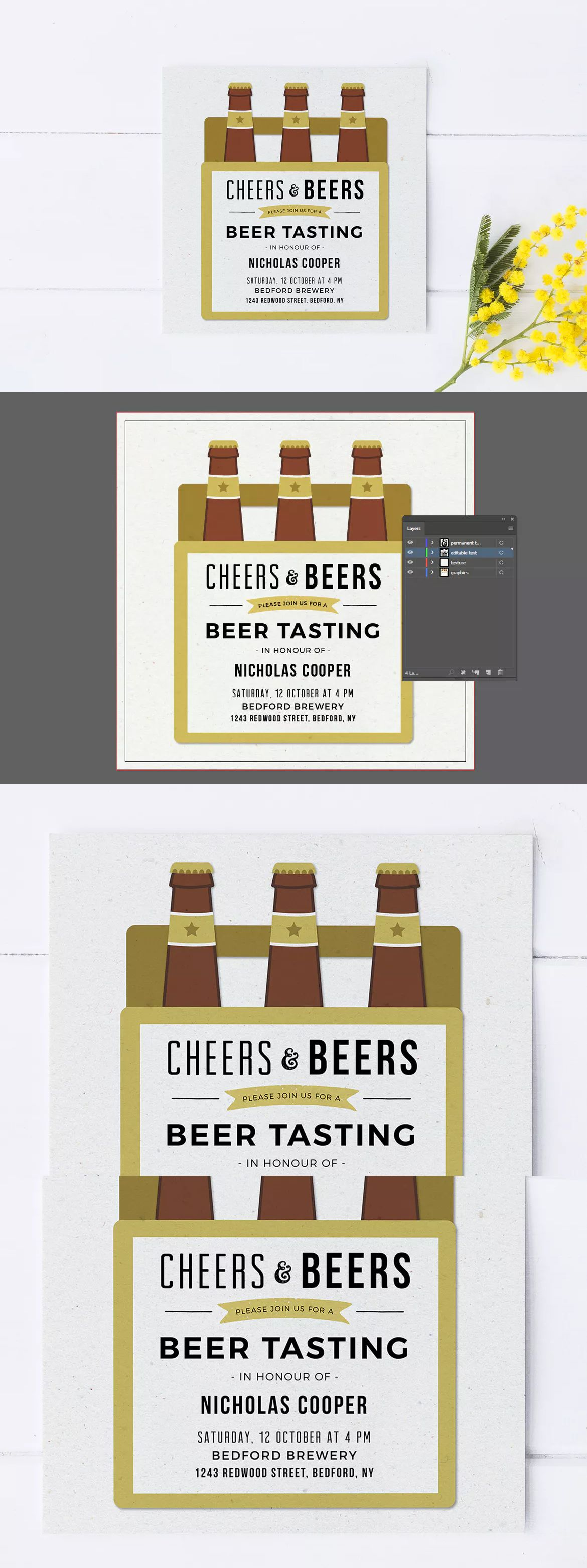Beer tasting party invitation template ai invitation card beer tasting party invitation template ai stopboris Gallery