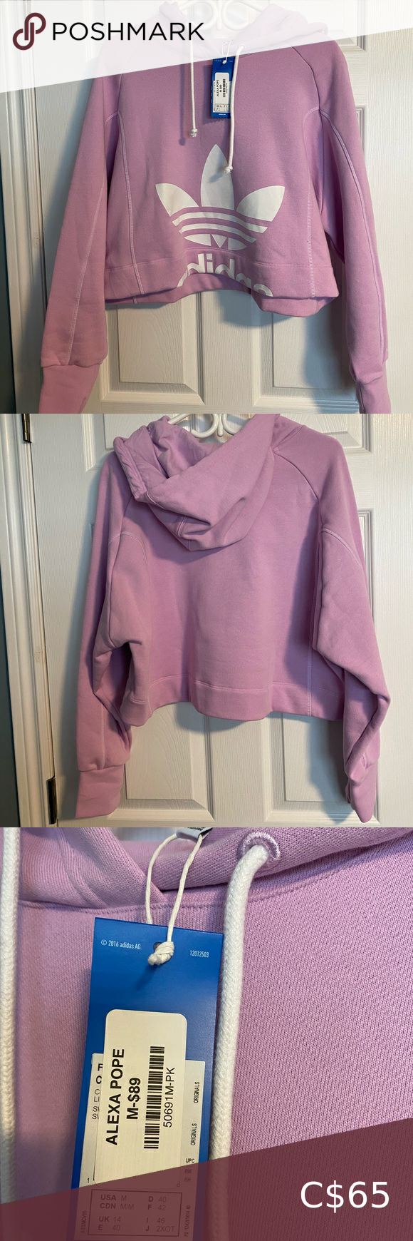 Lilac Adidas Cropped Sweater