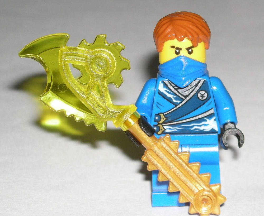 Lego ninjago jay rebooted minifigure with techno blade for Kinderzimmer ninjago