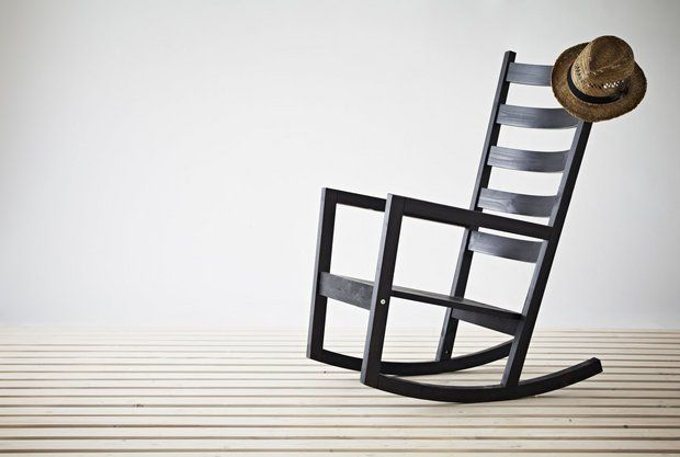 Ikea Outdoor Rocker Varmdo Rocking Chair Black Brown Finish 129 Size Fits Hallo Seat Back Cushions 8 99 To 25 Not Shown