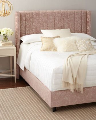Lotus Channel-Tufted California King Bed