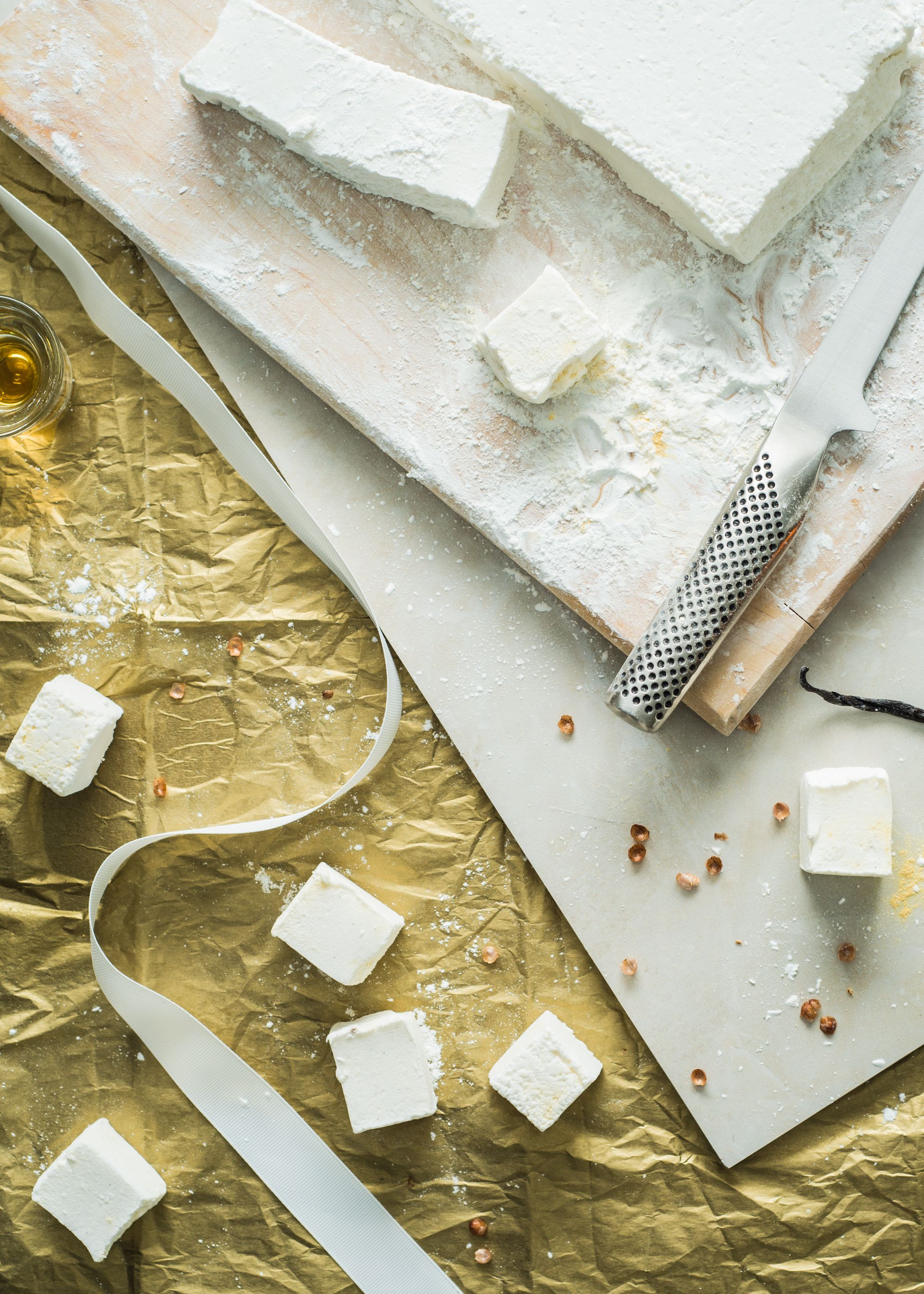 Calvados Marshmallows - Pecan Buttered Rum Steamers with Calvados Marshmallows