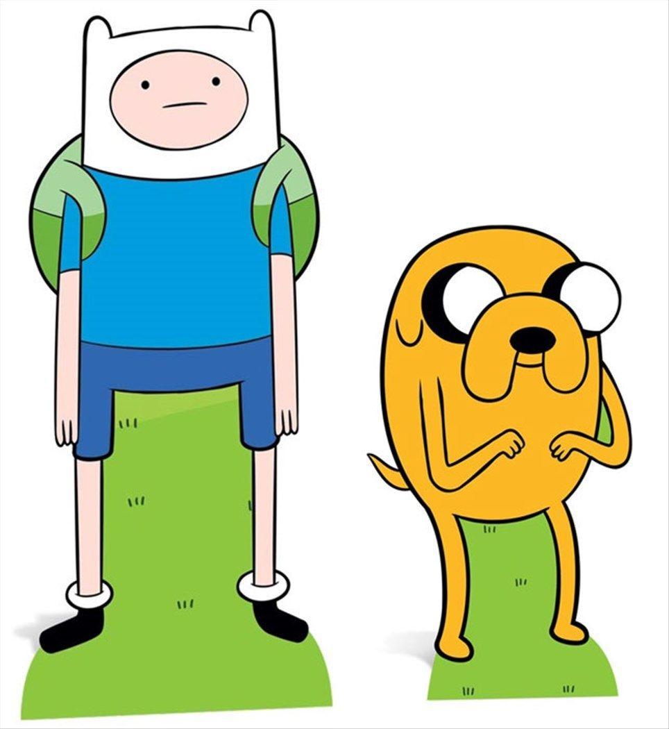 Finn And Jake From Adventure Time Cardboard Cutout Standee Standup Double Pack Disney Cizimleri Cizimler Cizim