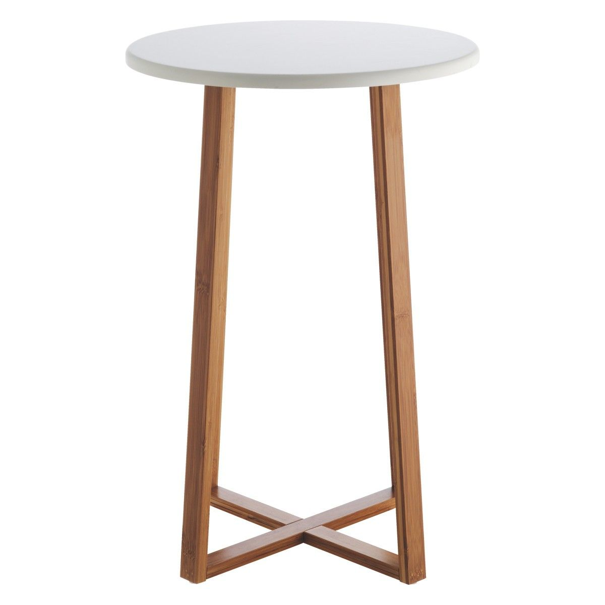 Best Drew Bamboo And White Lacquer Tall Side Table Tall Side 400 x 300