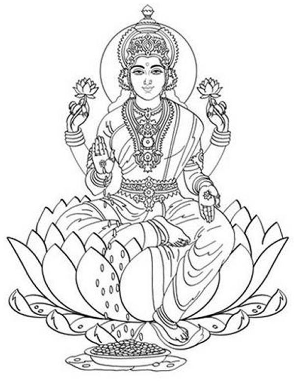 Coloring page: Hindu Mythology (Gods and Goddesses) #40 ...