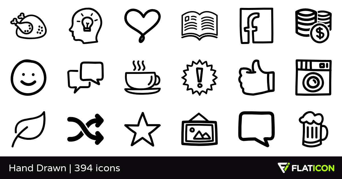 390 Free Vector Icons Of Hand Drawn Designed By Freepik How To Draw Hands Good Day Song Healthy Meals For Two