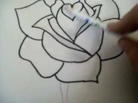 how to draw a rose youtube